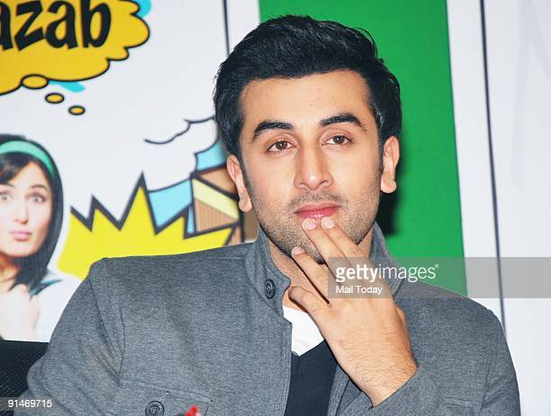Bollywood actor Ranbir Kapoor at the music launch of the Bollywood movie 'Ajab Prem Ki Ghazab Kahani' in Mumbai on Thursday October 1 2009