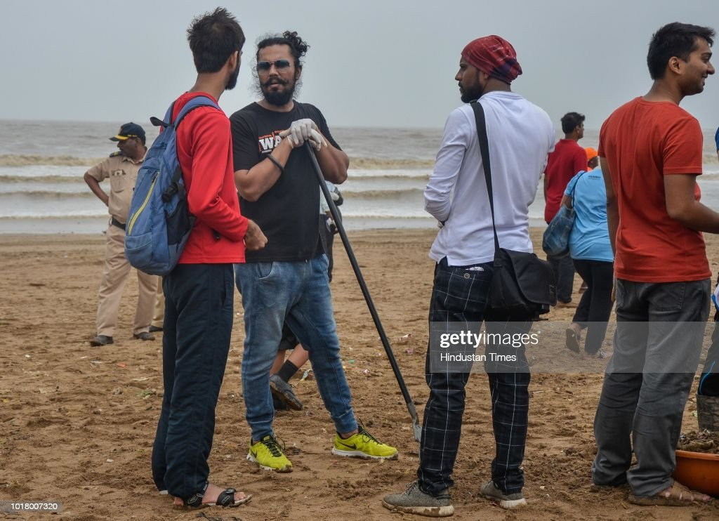 Bollywood Actor Randeep Hooda Participates In Beach Cleanup Campaign At Versova