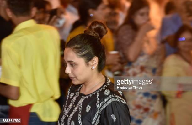 Bollywood actor Rani Mukerji during a condolence meeting of late actor Shashi Kapoor at Prithvi Theatre Juhu on December 7 2017 in Mumbai India...