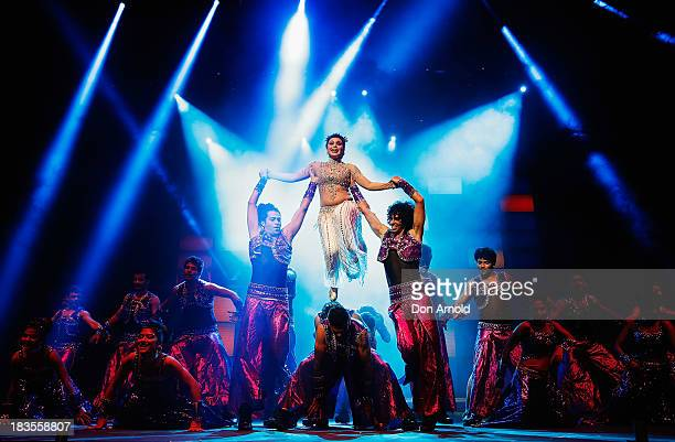 Bollywood actor Rani Mukerji performs live on stage at Allphones Arena on October 7 2013 in Sydney Australia This performance of 'Temptation...