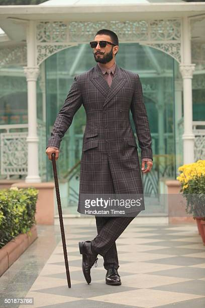 Bollywood actor Ranveer Singh poses for a profile shoot during an interview for the promotion of his upcoming movie Bajirao Mastani on December 15...