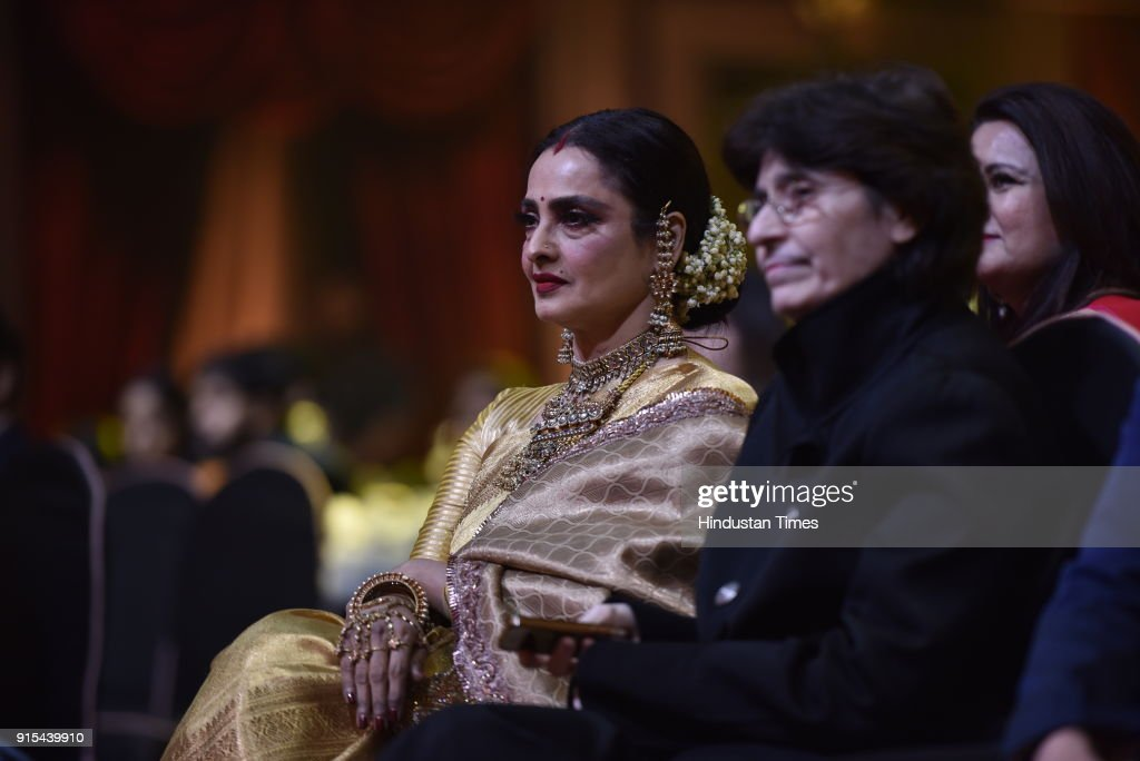 Bollywood actor Rekha during Hindustan Times India`s Most Stylish Awards 2018 at Yash Raj Studios Andheri on January 24 2018 in Mumbai India