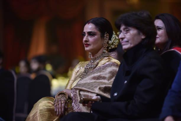 Bollywood actor Rekha during Hindustan Times India`s Most Stylish Awards 2018 at Yash Raj Studios Andheri on January 24 2018 in Mumbai India