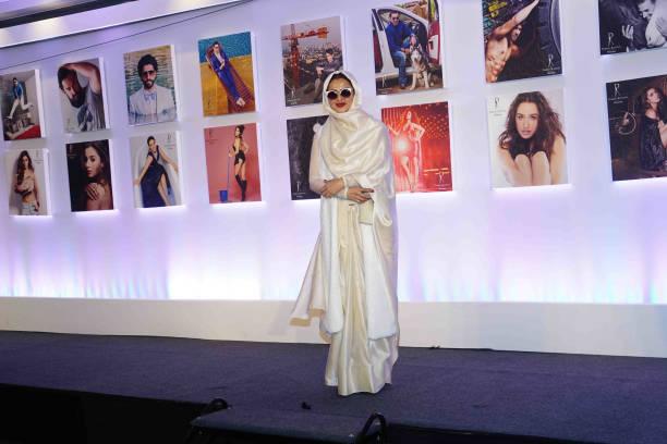 Bollywood actor Rekha during the 2018 calendar launch of celebrity photographer Dabboo Ratnani on January 17 2018 in Mumbai India