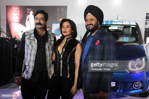 Bollywood actor Richa Chadda during the Amazon India Fashion Week Autumn Winter 2017 at Jawahar Lal Nehru Stadium Lodhi Road on March 18 2017 in New...