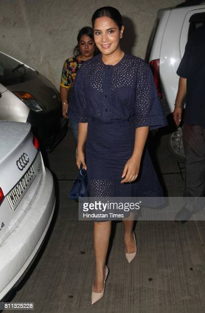 Bollywood actor Richa Chadda during the first screening of Inside Edge web series at The View Santracruze on July 7 2017 in Mumbai India