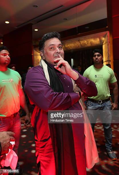 Bollywood actor Rishi Kapoor during prewedding party of singer Daler Mehndi's daughter Ajit Kaur with Navraj Singh son of singer Hans Raj Hans on...