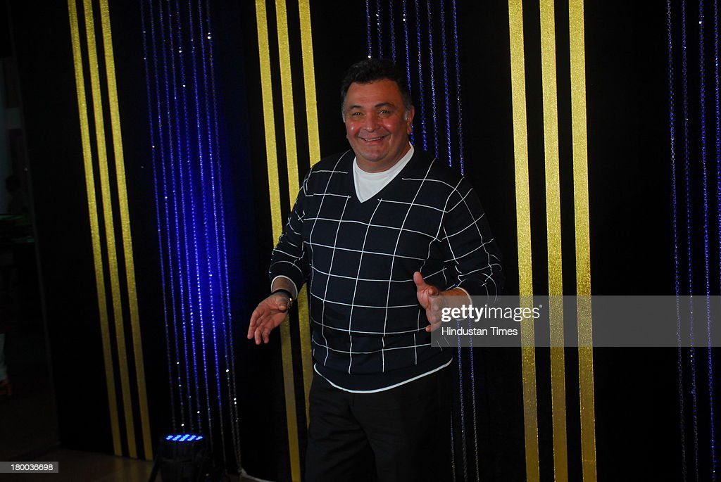 Bollywood actor Rishi Kapoor during the 64th birthday celebrations of actor turned producer Rakesh Roshan at Blue Sea, Worli Seaface on September 6, 2013 in Mumbai, India. The party was organised by son Hrithik Roshan and daughter Sunaina Roshan.