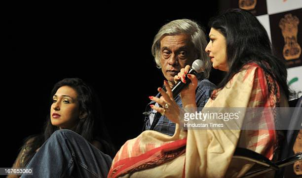 Bollywood actor Rituparna Sengupta filmmaker Sudhir Mishra and Kiran Sippy during a panel discussion on 'Depiction of Women in Indian Cinema and...