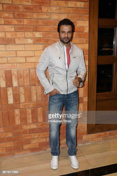 Bollywood actor Rohit Roy during the birthday party of actor Aftab Shivdasani at the Taj Lands End Hotel in Bandra on June 25 2017 in Mumbai India