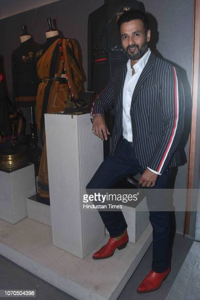 Bollywood actor Rohit Roy during the launch of Shantanu and Nikhil flagship store at Bandra on December 6 2018 in Mumbai India