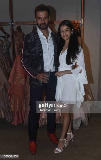 Bollywood actor Rohit Roy with daughter Kiara Bose Roy during the launch of Shantanu and Nikhil flagship store at Bandra on December 6 2018 in Mumbai...