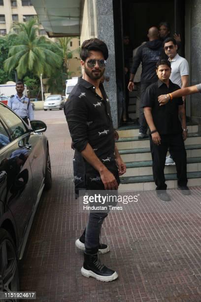 Bollywood actor Sahid Kapoor seen celebrating the success of his film Kabir Singh in Andheri on June 24 2019 in Mumbai India