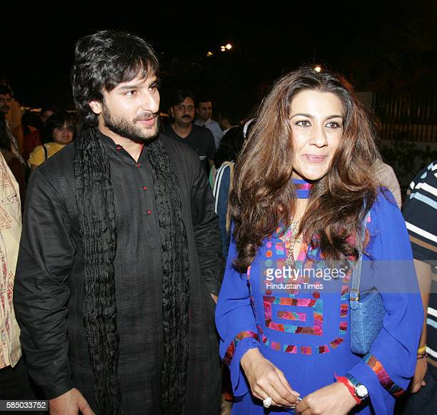 Bollywood actor Saif Ali Khan with Amrita Singh