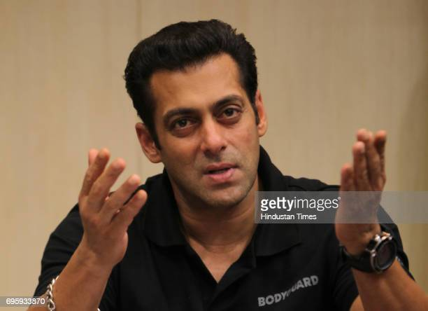 Bollywood actor Salman Khan at Hindustan Times office Mahim for his film promotion Bodyguard