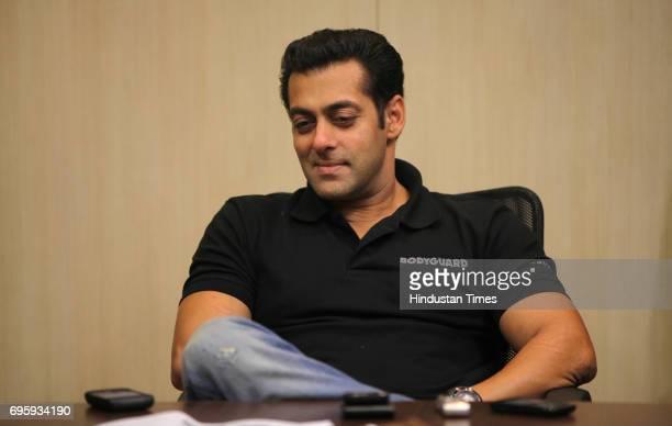 Bollywood actor Salman Khan at Hindustan Times office Mahim for his film promotion Bodyguard