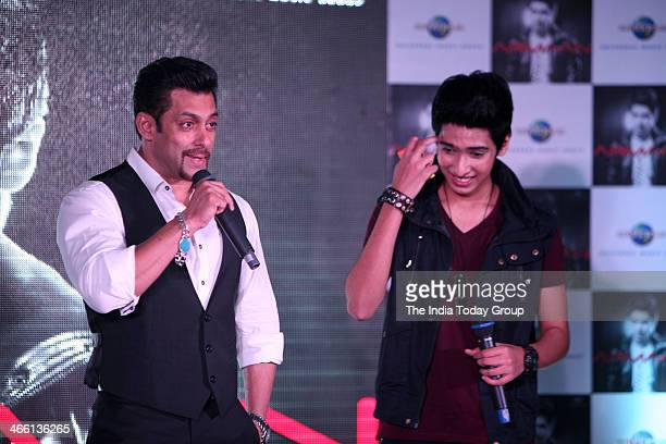 Bollywood actor Salman Khan at the launch of Armaan Malik's music album at Mumbai on 30th January 2014