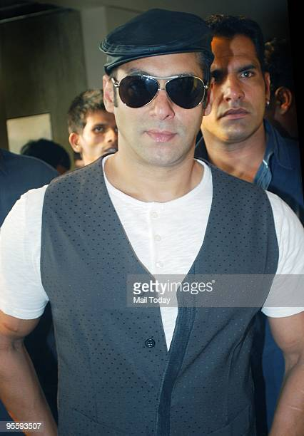 Bollywood actor Salman Khan attends a promotional event for the Hindi film 'Veer' in Mumbai on January 3 2010