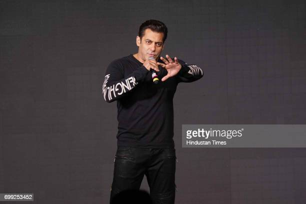 Bollywood actor Salman Khan during a press conference of movie 'Tubelight' at Taj Lands End Bandra on June 19 2017 in Mumbai India Tubelight is an...