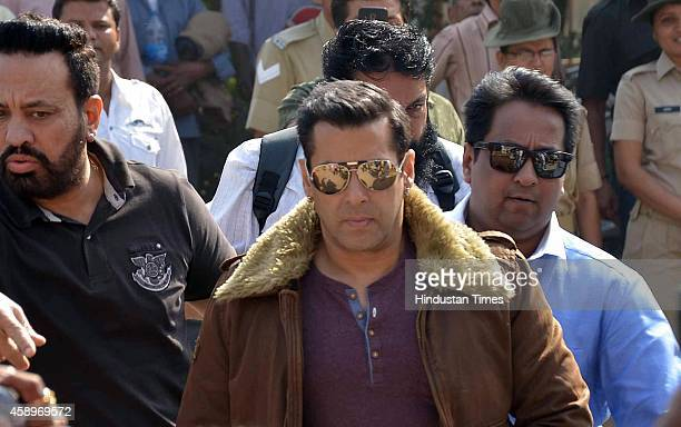 Bollywood actor Salman Khan during an appearance at court in black buck poaching case on November 14 2014 in Jodhpur India Khan was convicted and...