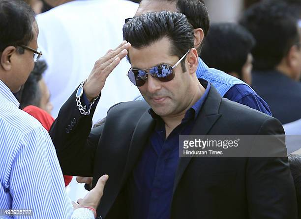 Bollywood actor Salman Khan during the swearingin ceremony for new Indian Prime Minister Narendra Modi and his cabinet ministers at Rashtrapati...