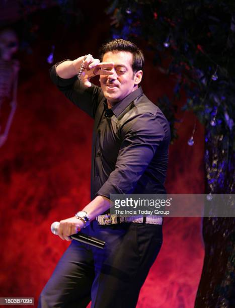 Bollywood actor Salman Khan in the press conference of Big Boss season 7 in Grand Hyatt on 11th September 2013 in Mumbai