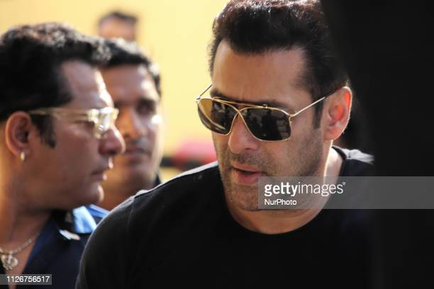 Bollywood actor Salman Khan is seen during a trailer launch of the upcoming bollywood movie Notebook in Mumbai India on 22 February 2019