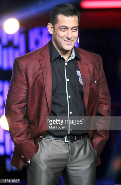 Bollywood actor Salman Khan on the sets of a TV reality show in Mumbai on Saturday