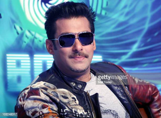 Bollywood actor Salman Khan smiles during a press conference in Mumbai on Tuesday August 3 2010 Khan announced that he will host the reality show...