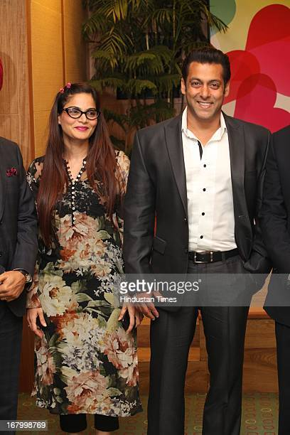 Bollywood actor Salman Khan with his sister Alvira Khan Aghinotri at the launch of Little Hearts Programme that will provide free surgeries to...