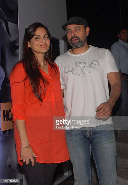 Bollywood actor Salman Khan's sister Alvira Khan with her husband Atul Agnihotri during Being Human store launch ceremony at Santa Cruz linking road...