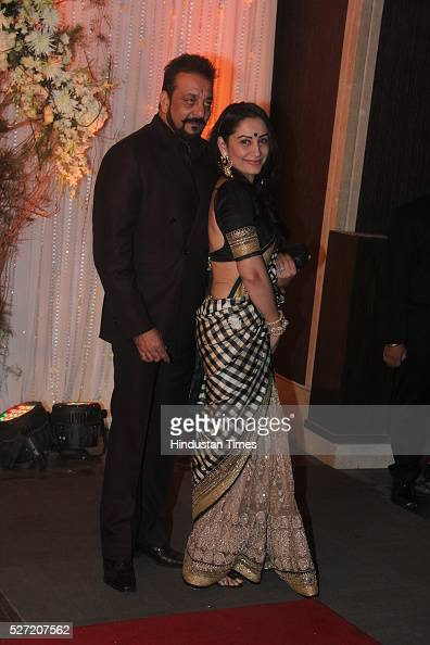Bollywood actor Sanjay Dutt with wife Manyata Dutt at ...
