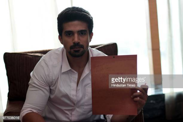 Bollywood actor Saqib Saleem during an exclusive interview with for HT CityHindustan Times for the promotion of an upcoming movie Race 3 at the Leela...