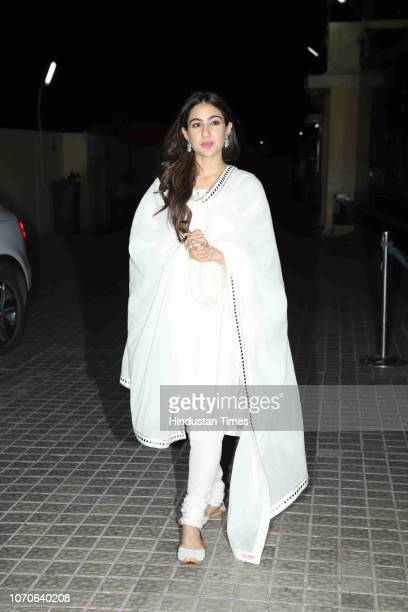 Bollywood actor Sara Ali Khan spotted at Bandra on December 5 2018 in Mumbai India