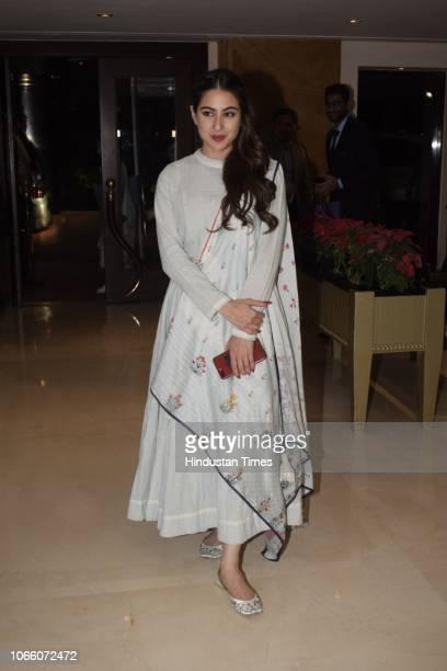 Bollywood actor Sara Ali Khan spotted at Juhu on November 26 2018 in Mumbai India