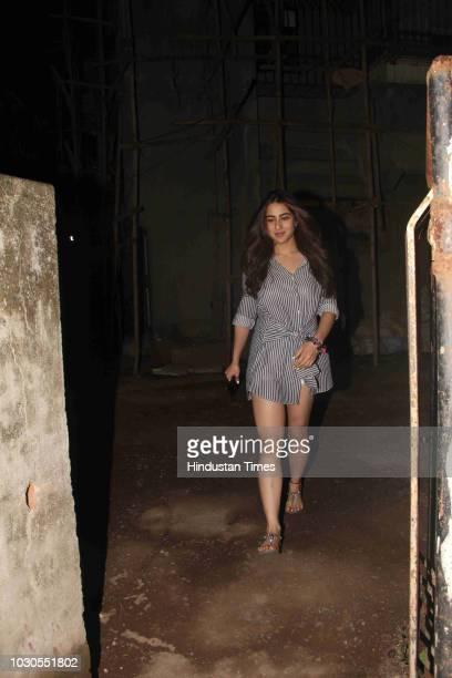 Bollywood actor Sara Ali Khan spotted at Juhu on September 4 2018 in Mumbai India