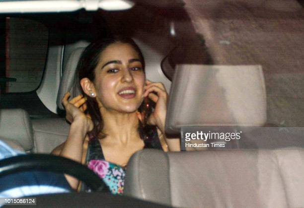 Bollywood actor Sara Ali Khan spotted in Khar on August 8 2018 in Mumbai India