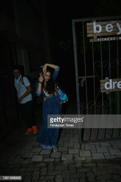 Bollywood actor Sara Ali Khan spotted on July 13 2018 in Mumbai India
