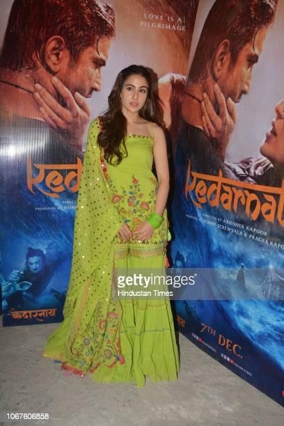 Bollywood actor Sara Ali Khan spotted on November 30 2018 in Mumbai India