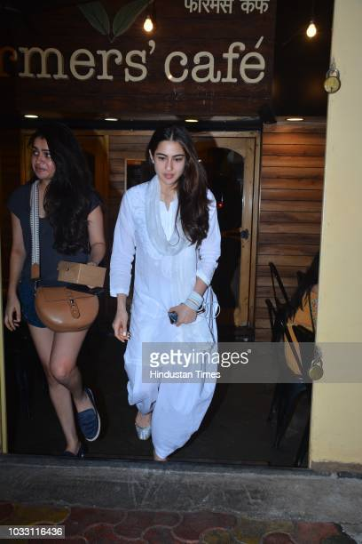 Bollywood actor Sara Ali Khan spotted on September 11 2018 in Mumbai India