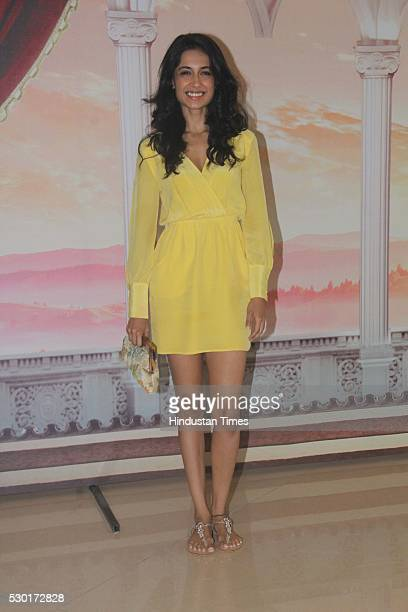 Bollywood actor SarahJane Dias during the Disney India's Beauty and the Beast musical event at NSCI Dome Worli on May 8 2016 in Mumbai India