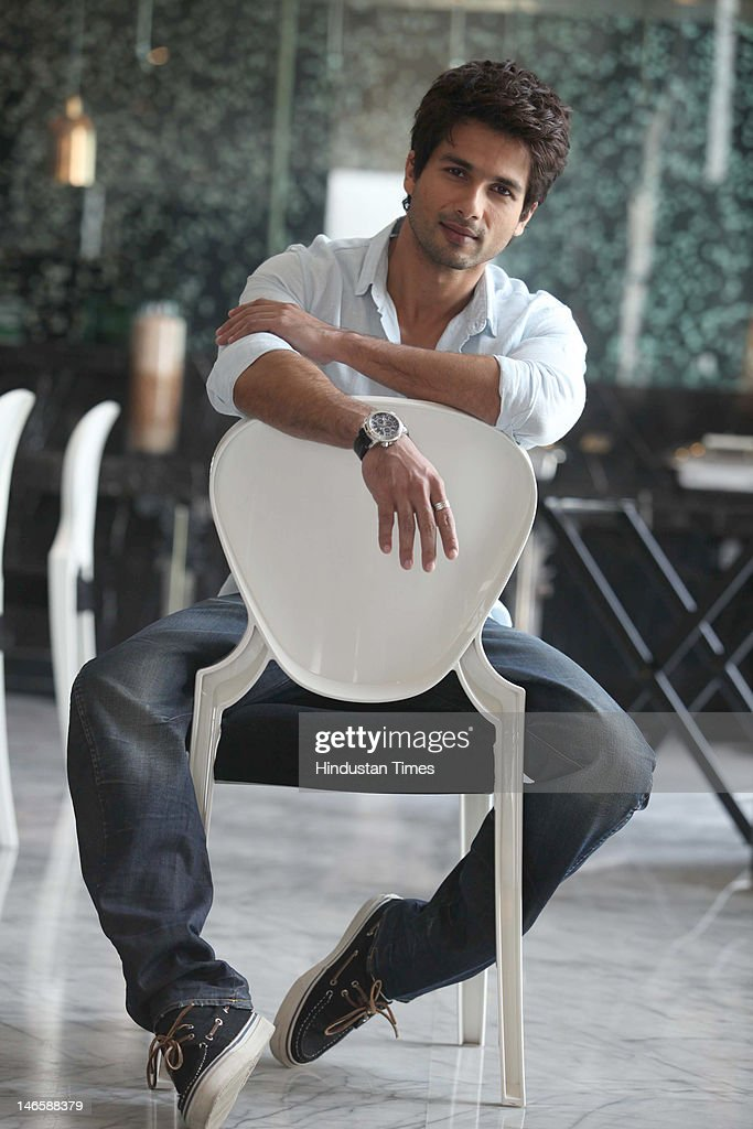Bollywood actor Shahid Kapoor during photo shoot on June 16, 2012 in New Delhi, India. His latest movie Teri Meri Kahani is scheduled to release on June 22 this year.