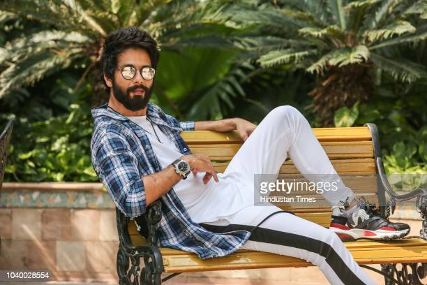 Bollywood actor Shahid Kapoor poses during an exclusive interview with HT CityHindustan Times for the upcoming movie Batti Gul Meter Chalu on...