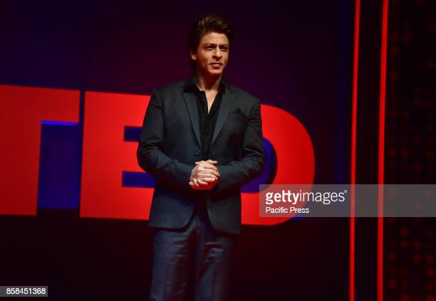 Bollywood actor Shahrukh Khan present at the TEDTalks India launch event at hotel Taj Lands End Bandra in Mumbai