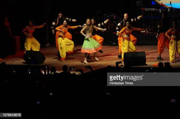 Bollywood actor Shefali Joriwala performing at country club New Year bash at Kandivaly country club on December 31 2018 in Mumbai India