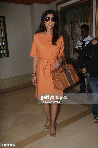 Bollywood actor Shilpa Shetty during the International Indian Film Academy Awards Voting Weekend on April 16 2017 in Mumbai India