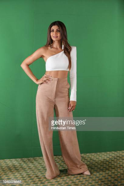 Bollywood actor Shilpa Shetty poses during an exclusive interview with HT CityHindustan Times on September 18 2018 in New Delhi India