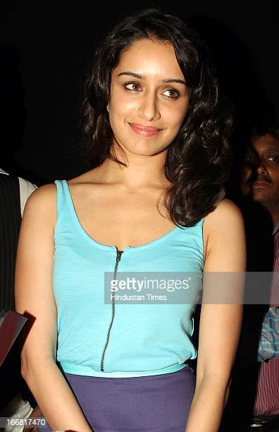 Bollywood actor Shraddha Kapoor at Press conference of upcoming film Aashiqui 2 at Laxmi Studious Film City on April 15 2013 in Noida India