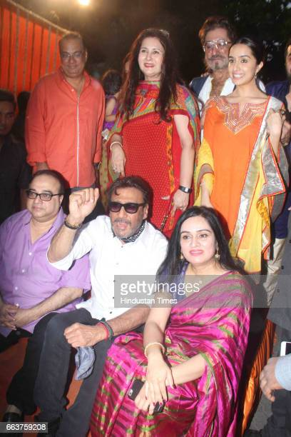 Bollywood actor Shraddha Kapoor Shakti Kapoor Poonam Dhillon Jackie Shroff and Padmini Kolhapure during the opening of Pandit Pandharinath Kolhapure...