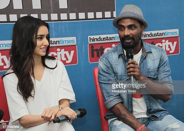 Bollywood actor Shraddha Kapoor with director Remo D'Souza during an exclusive interview with HT CityHindustan Times for the promotion of upcoming...